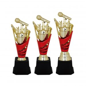 Acrylic Trophies AC4038 – Acrylic Microphone & Star Trophy