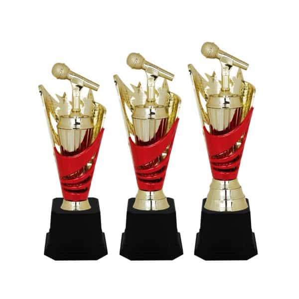 Acrylic Trophies AC4038 – Acrylic Microphone & Star Trophy