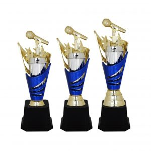 Acrylic Trophies AC4039 – Acrylic Microphone & Star Trophy