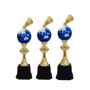 Acrylic Trophies AC4216 – Acrylic Badminton & Globe Trophy