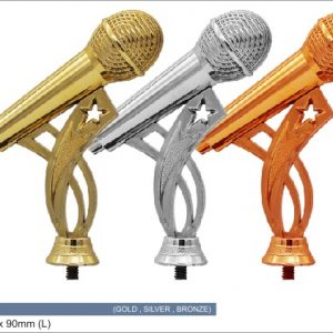 Plastic Trophies ACPF-01 M – Microphone Plastic Top Holder