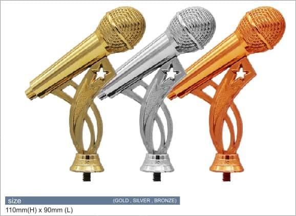 Plastic Trophies ACPF-01 M – Microphone Plastic Top Holder