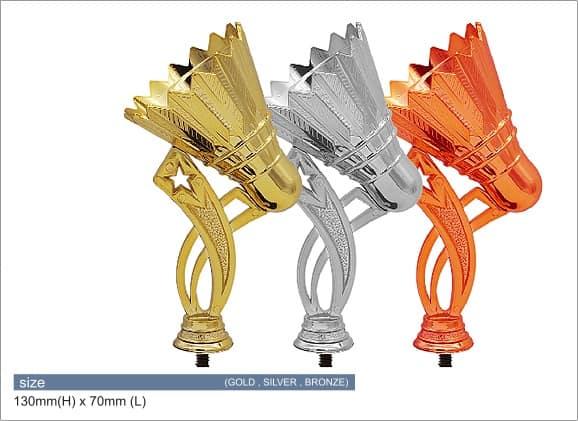 Plastic Trophies ACPF-03 B – Badminton Shuttlecock Plastic Top Holder