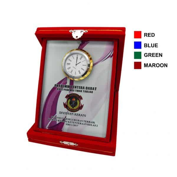 Clock Plaques CL2030 – Velvet Box With Crystal Clock