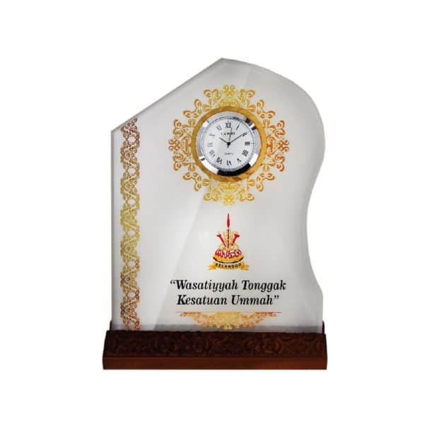 Clock Plaques CL2047 – Crystal Plaque With Clock