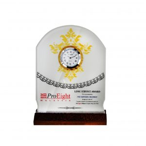 Clock Plaques CL2048 – Crystal Plaque With Clock