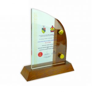 Crystal Plaques CR3006 – Exclusive Wooden Crystal Plaque