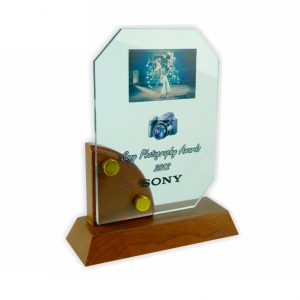 Crystal Plaques CR3008 – Exclusive Wooden Crystal Plaque
