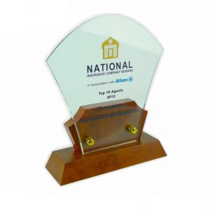 Crystal Plaques CR3009 – Exclusive Wooden Crystal Plaque