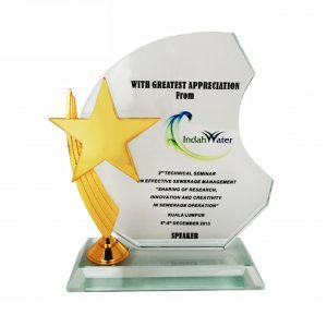 Crystal Plaques CR3026 – Exclusive Crystal Star Plaque