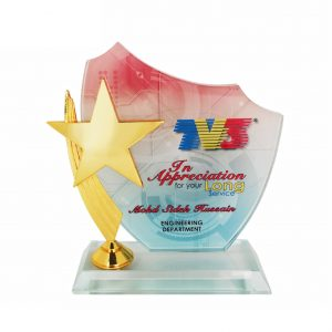 Crystal Plaques CR3032 – Exclusive Crystal Star Plaque
