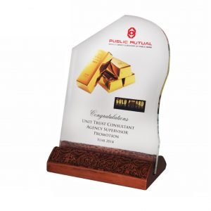 Crystal Plaques CR3039 – Exclusive Wood & Crystal Plaque