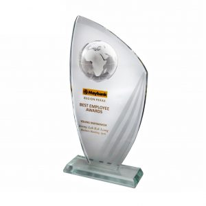 Crystal Plaques CR3045 – Exclusive Crystal Globe Plaque