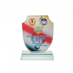Crystal Plaques CR8006 – Exclusive Shield Crystal Glass Awards