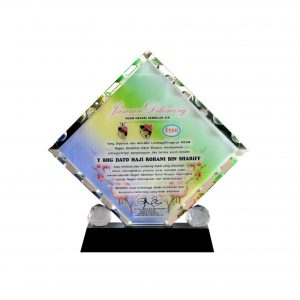 Crystal Plaques CR8022 – Exclusive Slanted Square Crystal Glass Awards