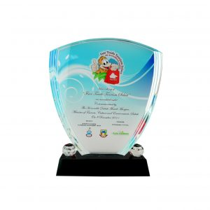 Crystal Plaques CR8023 – Exclusive Shield Crystal Glass Awards