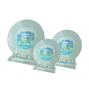 Crystal Plaques CR8024 – Exclusive Plate Crystal Glass Awards