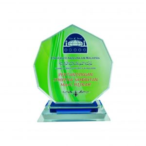 Crystal Plaques CR8036 – Exclusive Nonagonal Crystal Glass Awards
