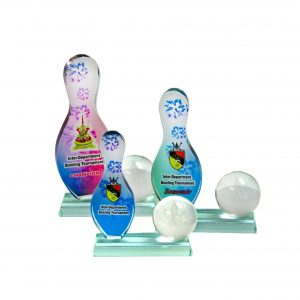 Crystal Plaques CR8071 – Exclusive Crystal Glass Awards (Bowling)