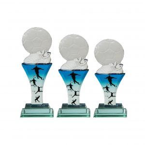 Crystal Plaques CR8113 – Exclusive Crystal Glass Awards (Football)