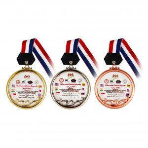 Crystal Medals CR8138 – Crystal Hanging Medal (GOLD, SILVER, BRONZE)