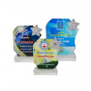 Crystal Plaques CR8197 – Exclusive Crystal Glass Star Awards