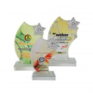 Crystal Plaques CR8198 – Exclusive Crystal Glass Star Awards