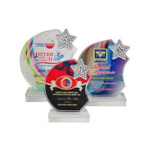 Crystal Plaques CR8200 – Exclusive Crystal Glass Star Awards