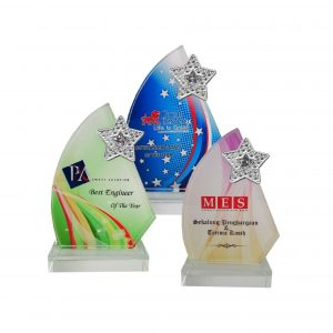 Crystal Plaques CR8201 – Exclusive Crystal Glass Star Awards