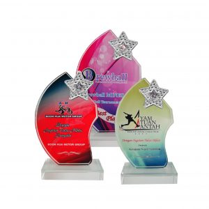 Crystal Plaques CR8202 – Exclusive Crystal Glass Star Awards
