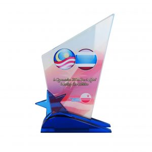 Crystal Plaques CR8218 – Exclusive Crystal Glass Star Awards