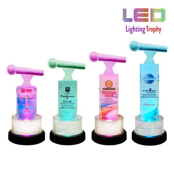 LED Trophies CR8270 – LED Lighting Trophy (Microphone)