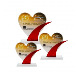 Crystal Plaques CR8282 – Exclusive Crystal Glass Love Awards