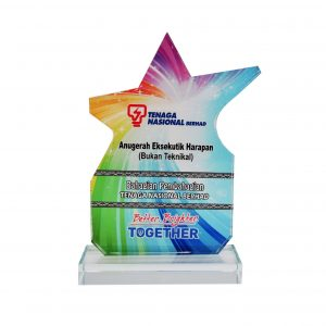 Crystal Plaques CR8287 – Exclusive Crystal Glass Star Awards
