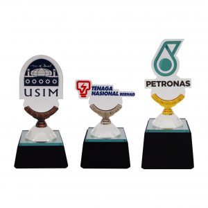 Crystal Trophies CR8295 – Exclusive Crystal Glass Awards With Acrylic Logo