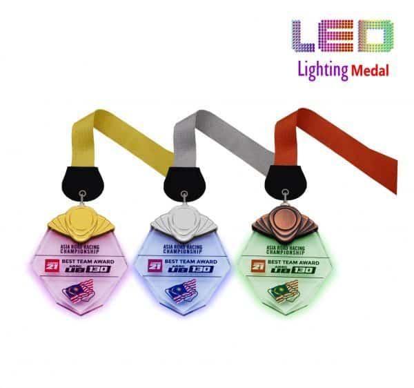 LED Medals CR8304 – LED Lighting Medal (GOLD, SILVER, BRONZE)