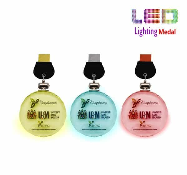 LED Medals CR8305 – LED Lighting Medal (GOLD, SILVER, BRONZE)