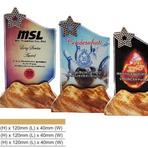 Crystal Plaques CR8322 – Star Color Crystal Award
