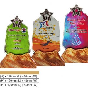 Crystal Plaques CR8327 – Star Color Crystal Award
