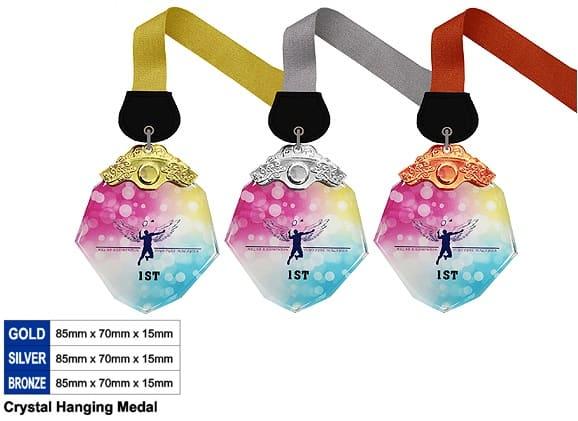Crystal Medals CR8345 – Crystal Hanging Medal