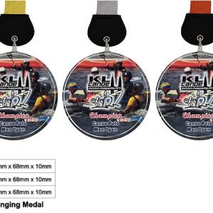 Crystal Medals CR8346 – Crystal Hanging Medal