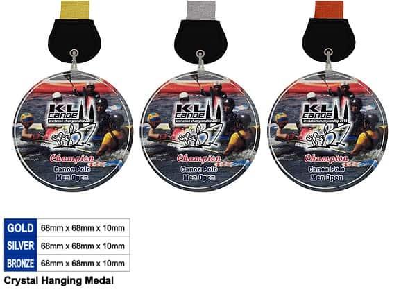 Crystal Medals CR8346 – Crystal Hanging Medal