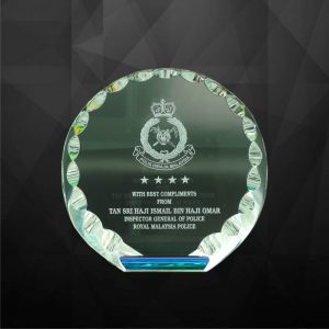Crystal Plaques CR9004 – Exclusive Round Crystal Plaques