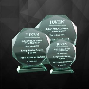 Crystal Plaques CR9010 – Exclusive Decagon Crystal Plaques