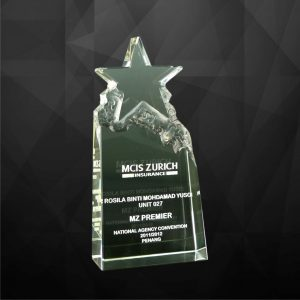 Crystal Plaques CR9014 – Exclusive Crystal Star Award