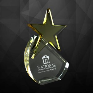 Crystal Plaques CR9052 – Exclusive Crystal Star Award