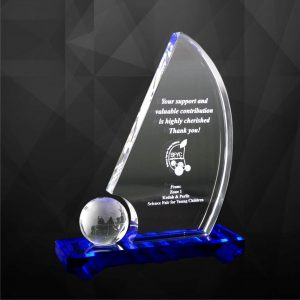 Crystal Plaques CR9058 – Exclusive Crystal Globe Plaques