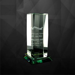 Crystal Trophies CR9066 – Exclusive Cuboid Crystal Trophy