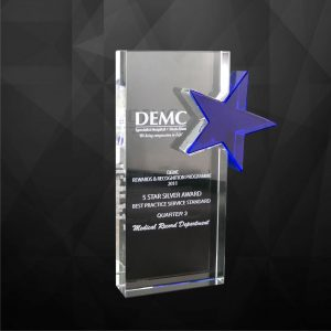 Crystal Plaques CR9069 – Exclusive Crystal Star Award