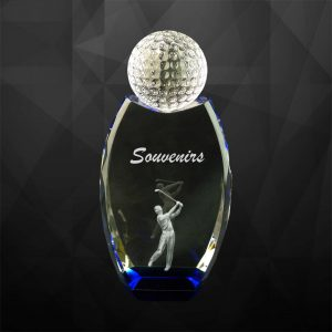 Crystal Trophies CR9076 – Exclusive Crystal Golf Trophy